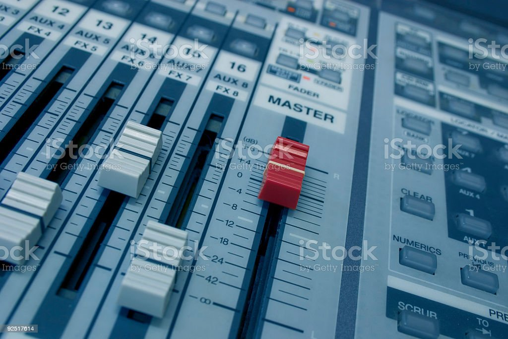 Recording Session 03 royalty-free stock photo