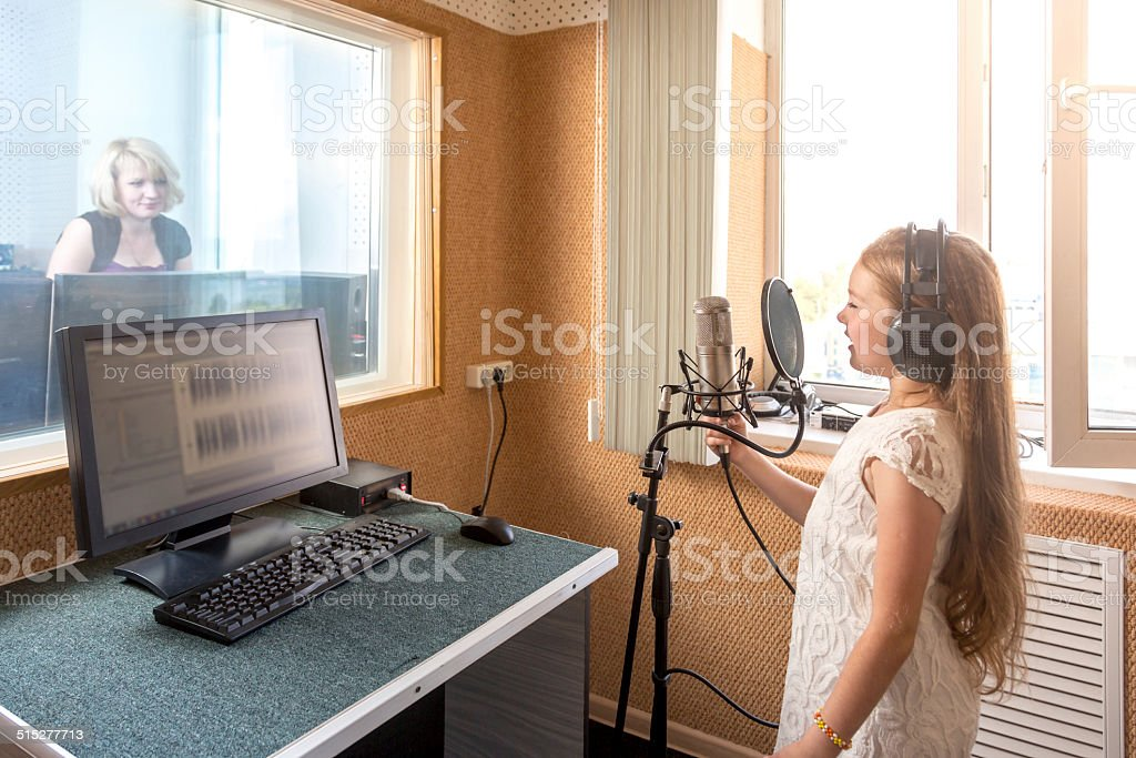 Recording song stock photo