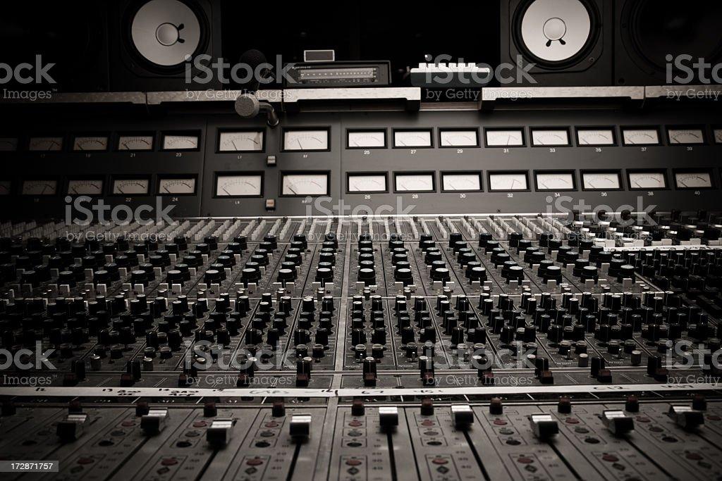 Recording Studio Board stock photo