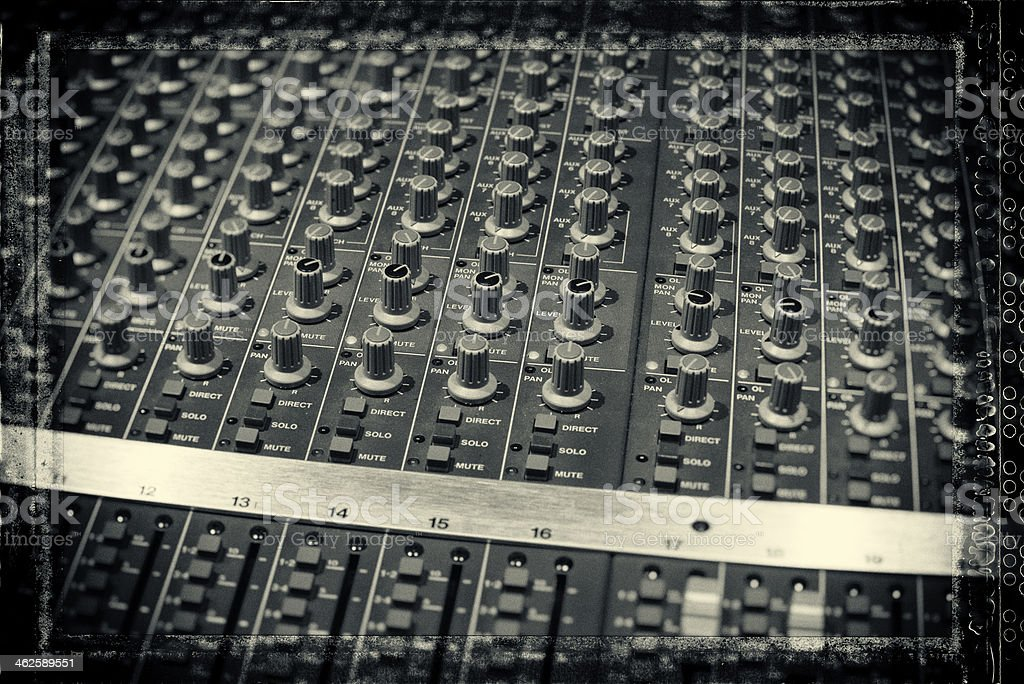 Recording Studio Board stock photo