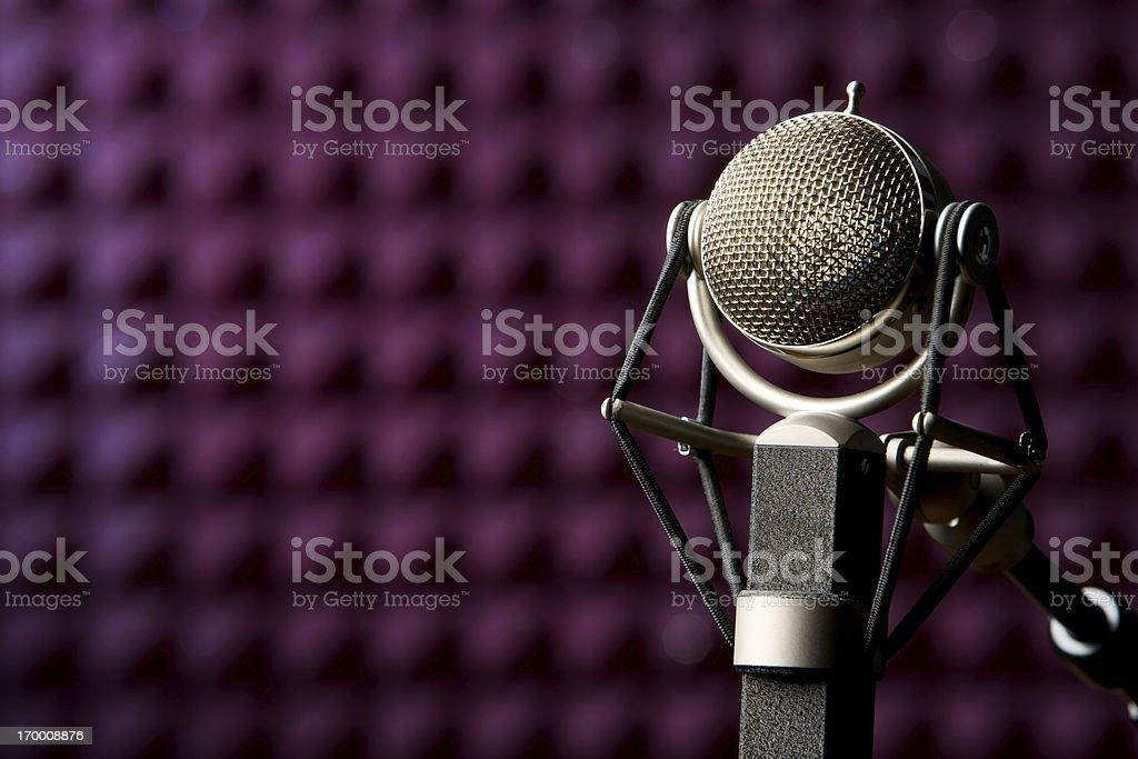 Recording Studio Microphone stock photo
