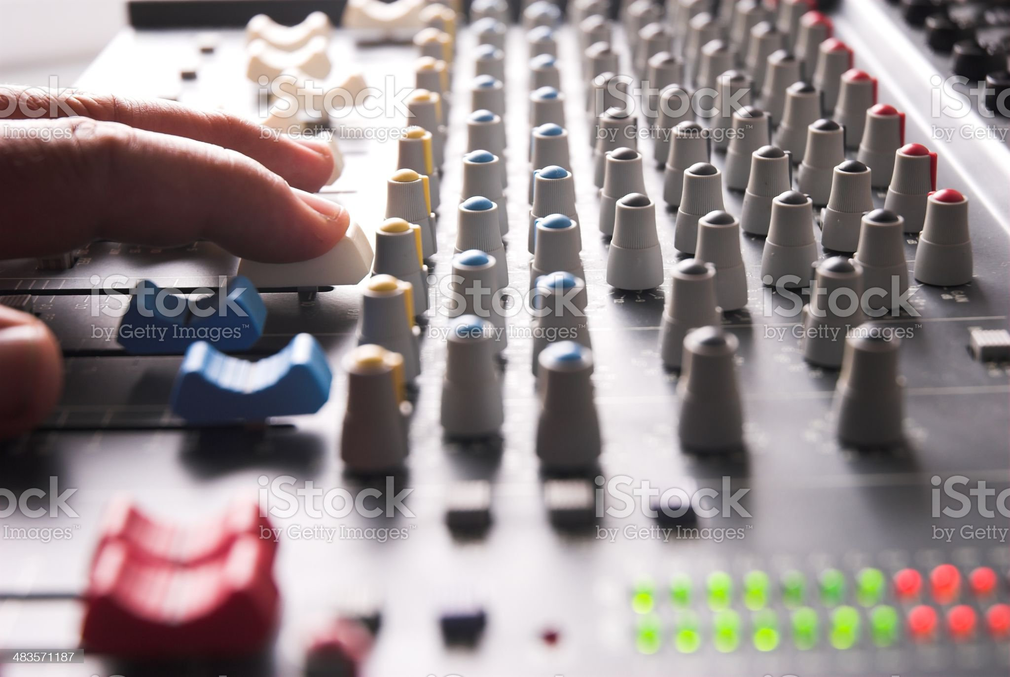 Recording studio Mixer royalty-free stock photo