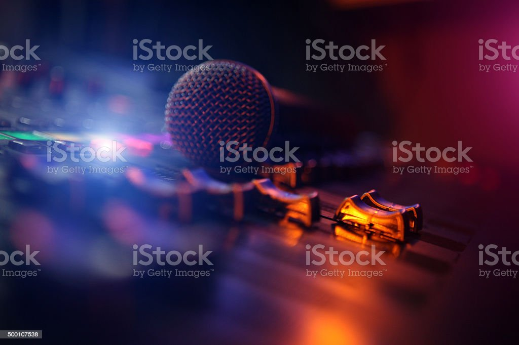 Recording Studio stock photo
