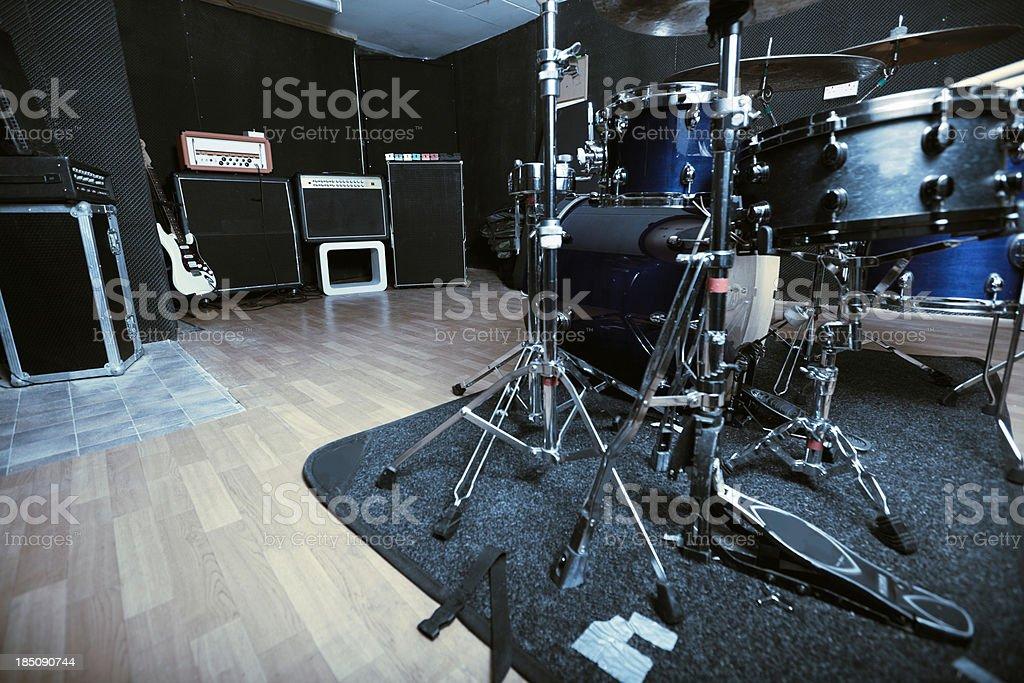 Recording studio series: low angle stock photo