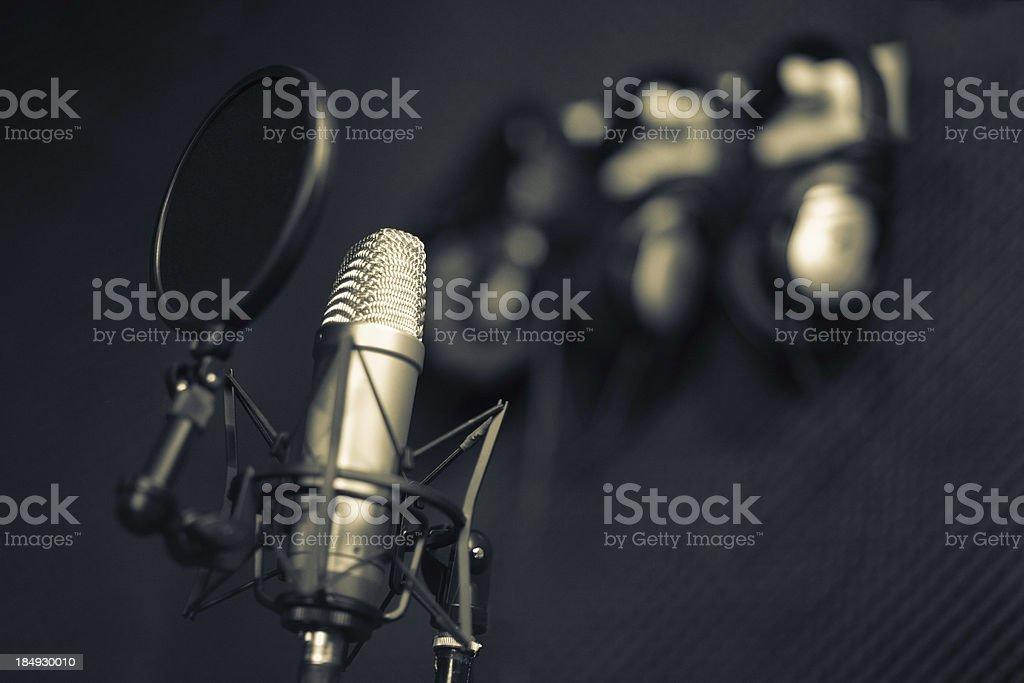 Recording studio series:  microphone stock photo