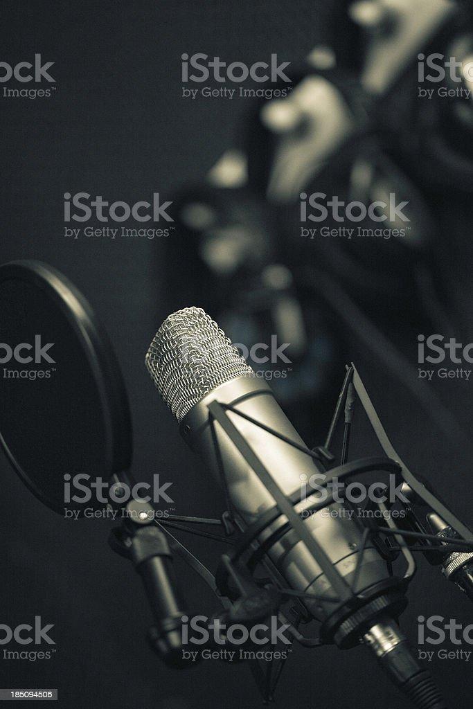 Recording studio series:  microphone royalty-free stock photo