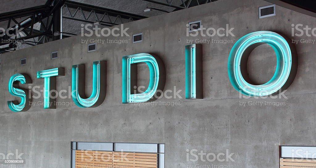 Recording Studio Sign stock photo
