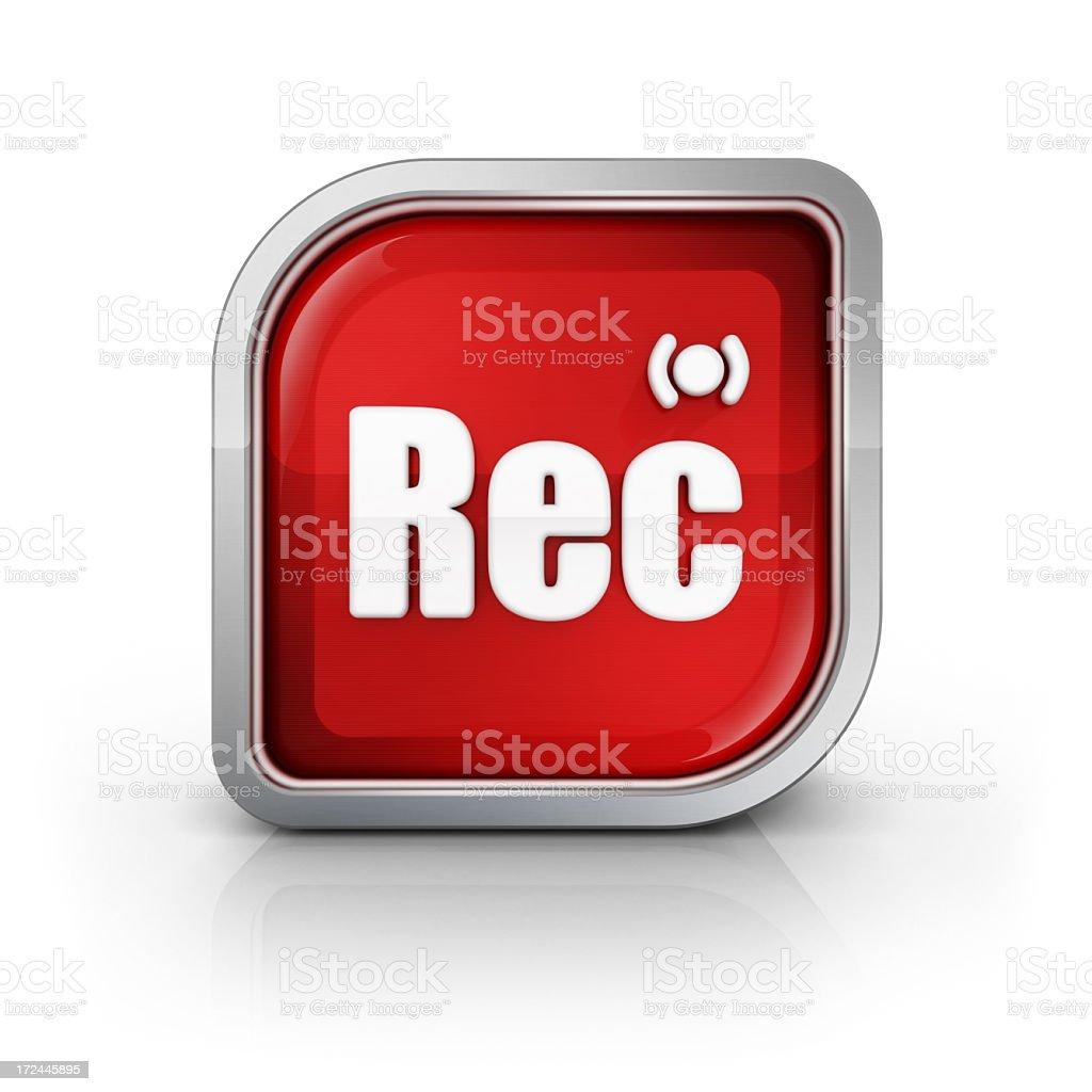 recording vid message glossy icon stock photo