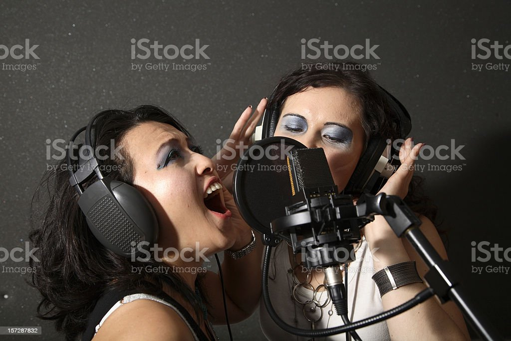 Recording Vocals royalty-free stock photo