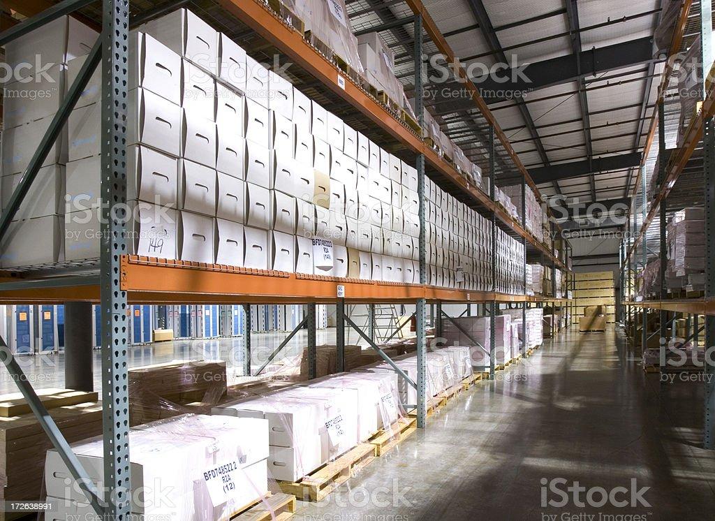 Records Retention Warehouse stock photo