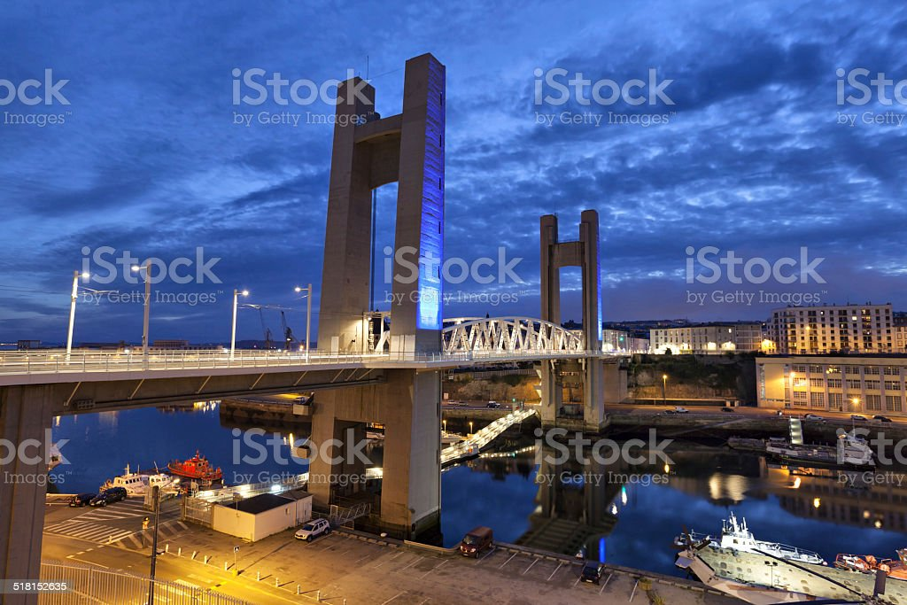 Recouvrance Bridge, Brest, France stock photo