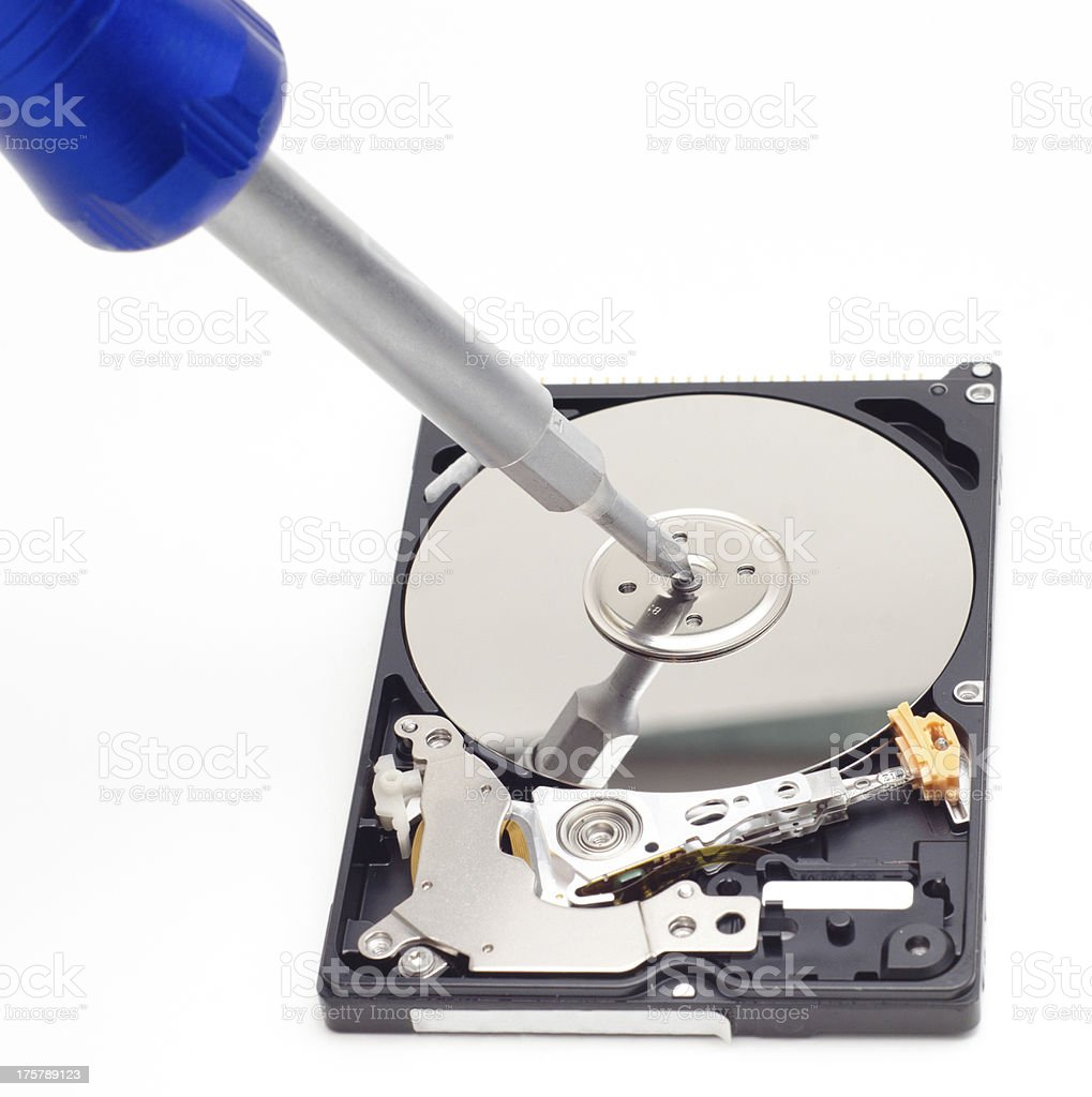 Recovering data royalty-free stock photo