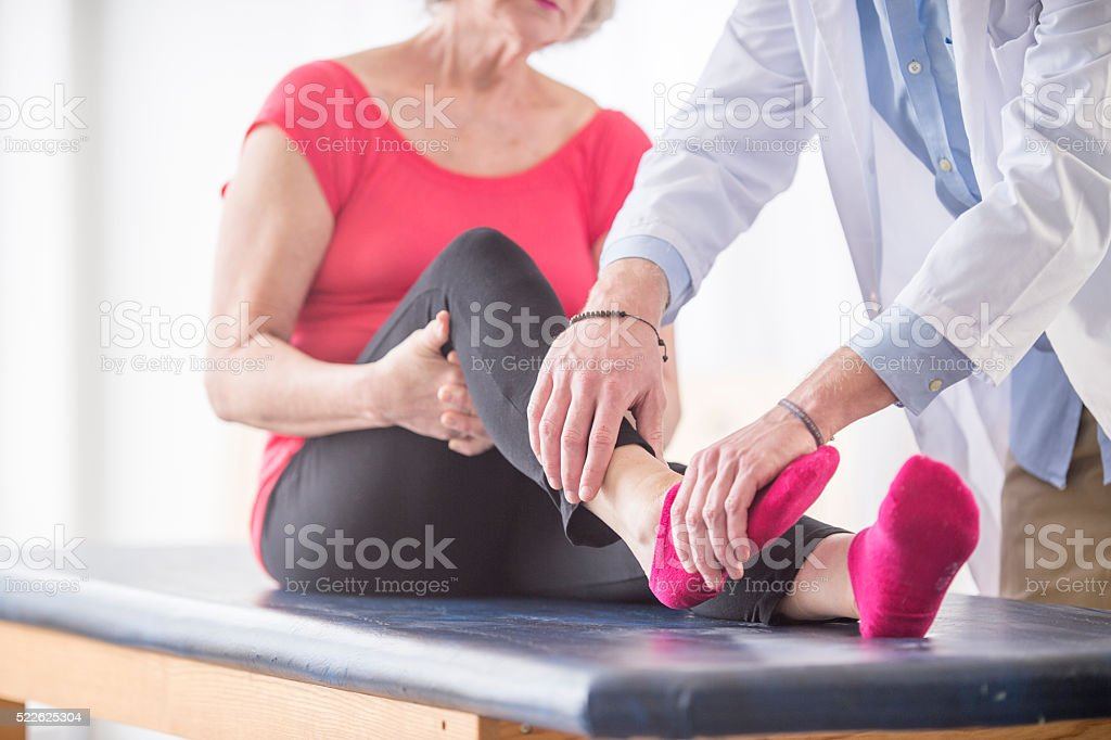 Recovering From an Ankle Injury stock photo