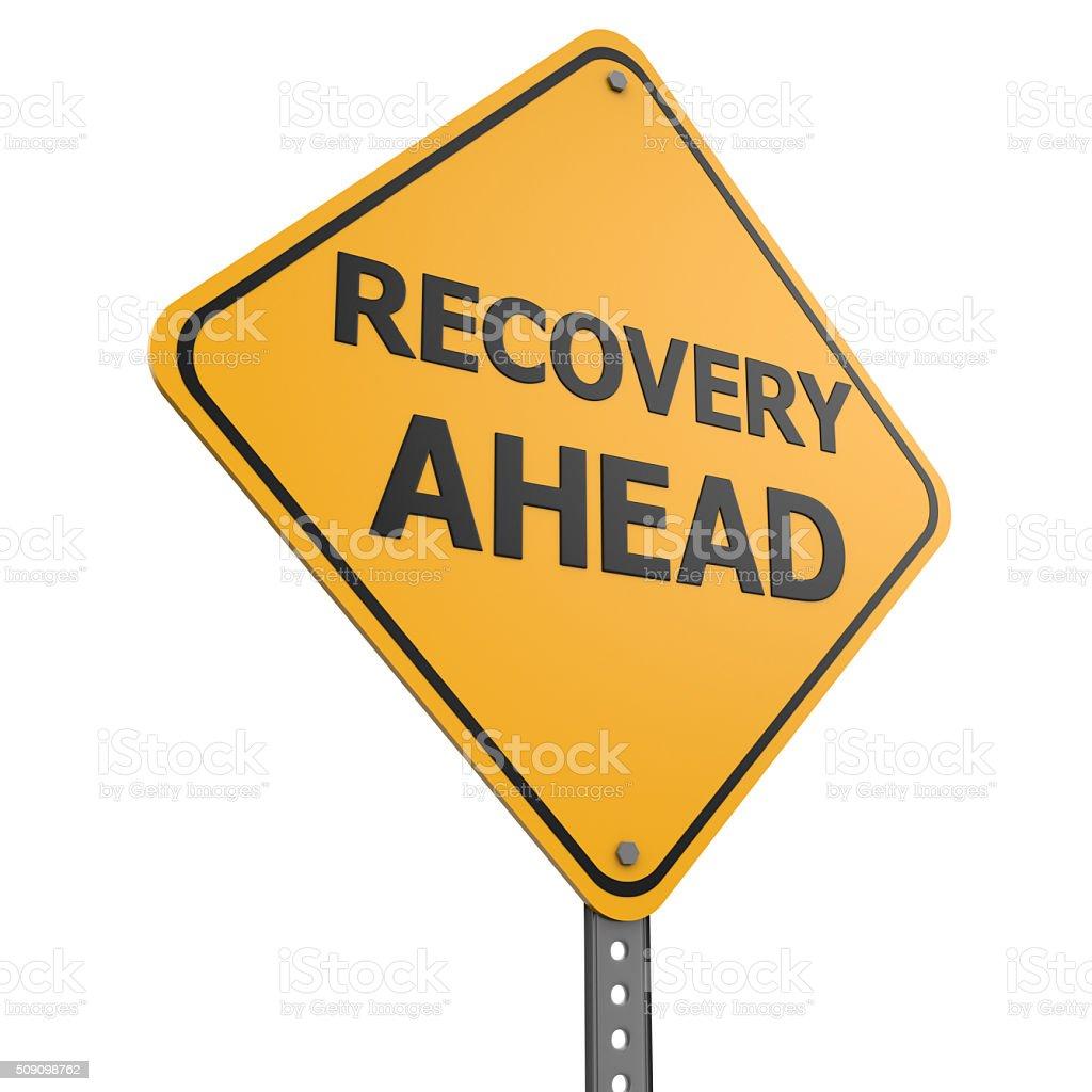 Recovery Ahead stock photo