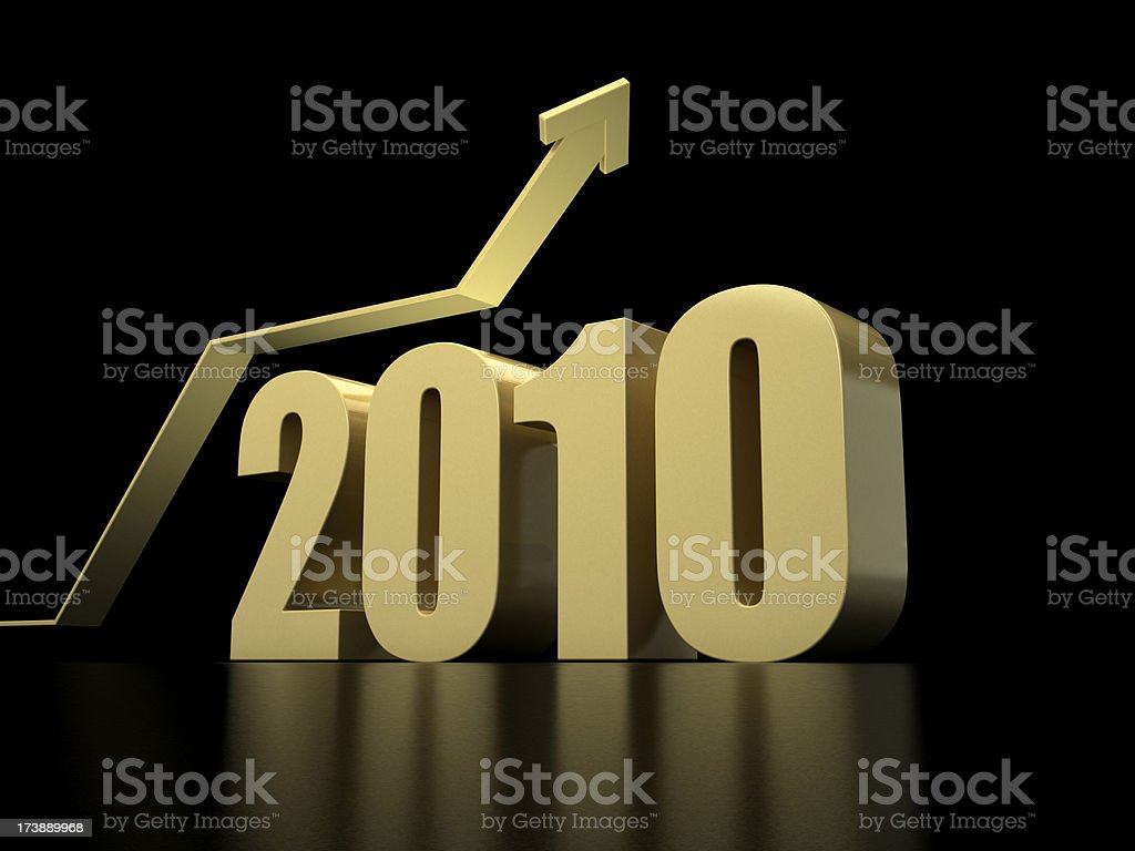 Recovery and success in 2010 royalty-free stock photo
