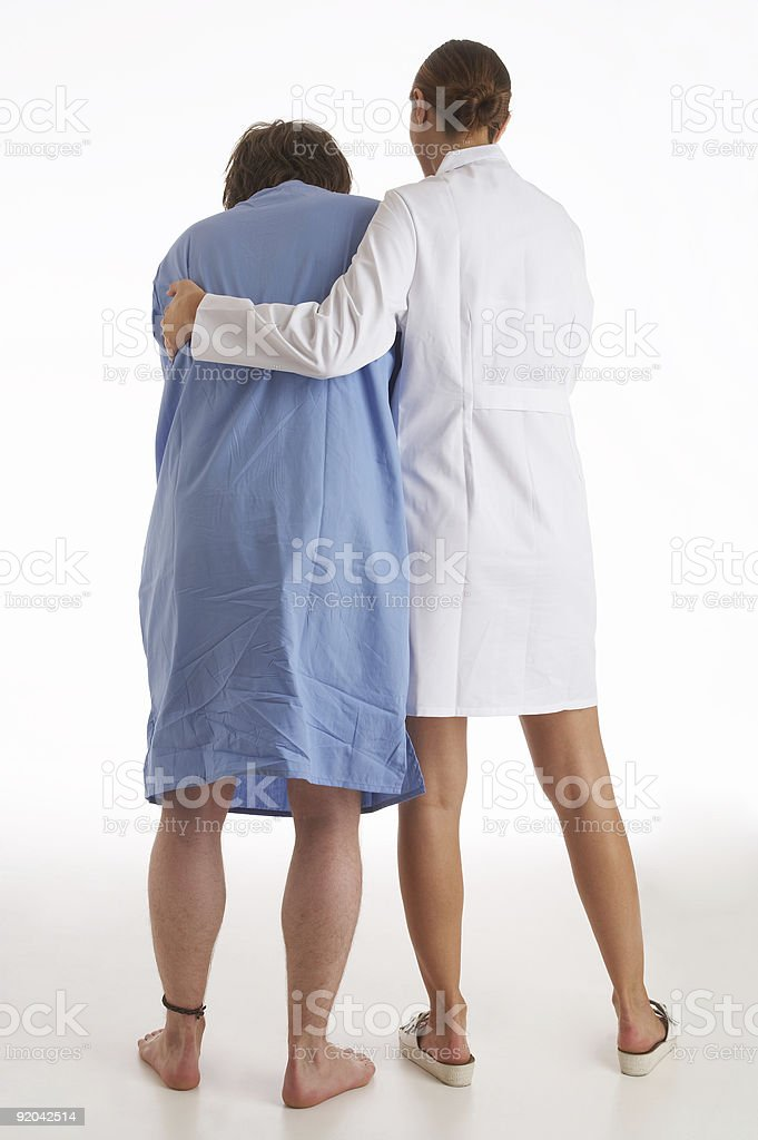 recovery, patient's first excercise after surgery, accident royalty-free stock photo