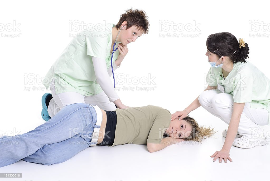 recovery position stock photo