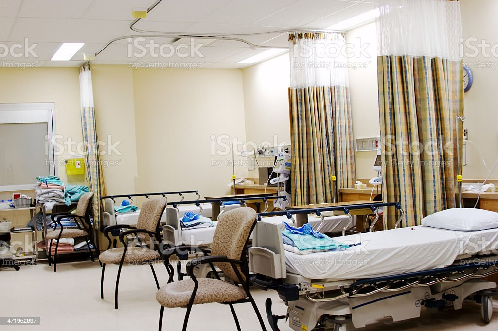 Recovery Room from surgery stock photo