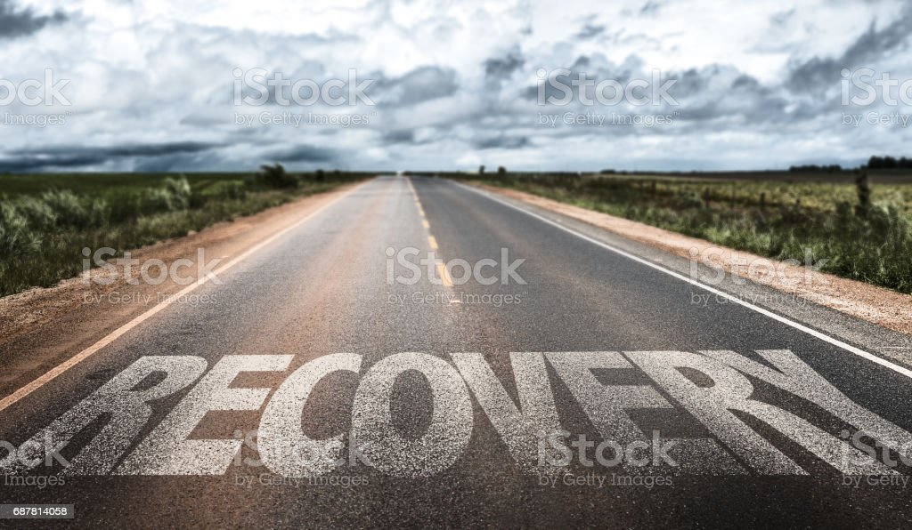 Recovery sign stock photo