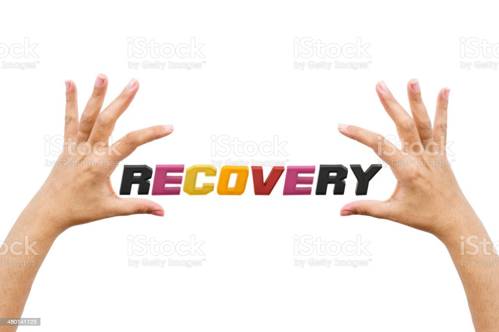 Recovery, word stock photo