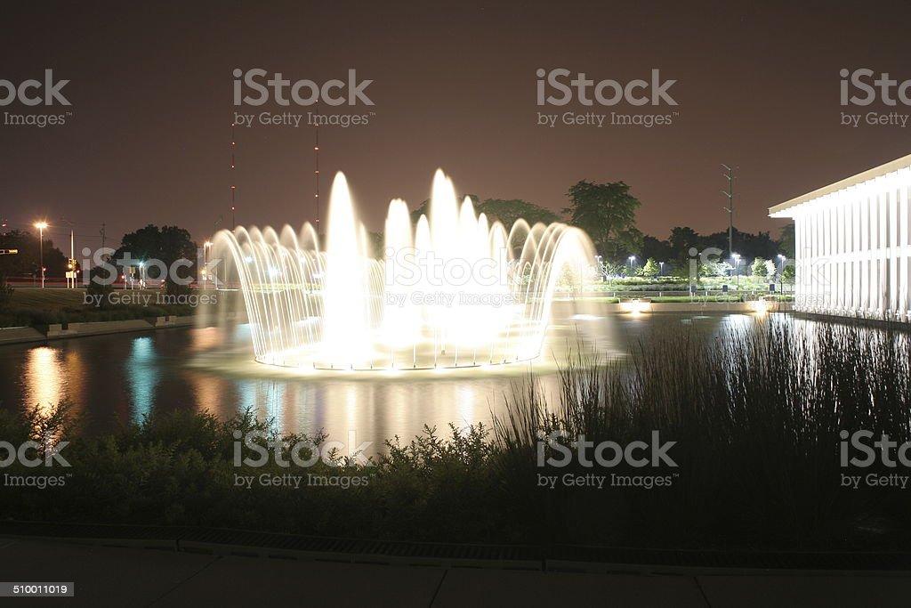recreatinal fountain stock photo