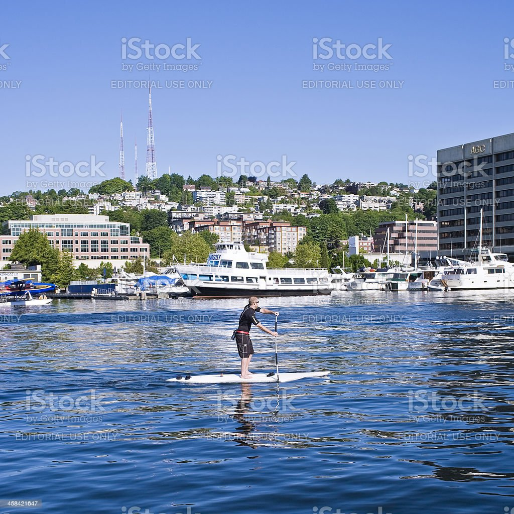 Recreation on Lake Union stock photo