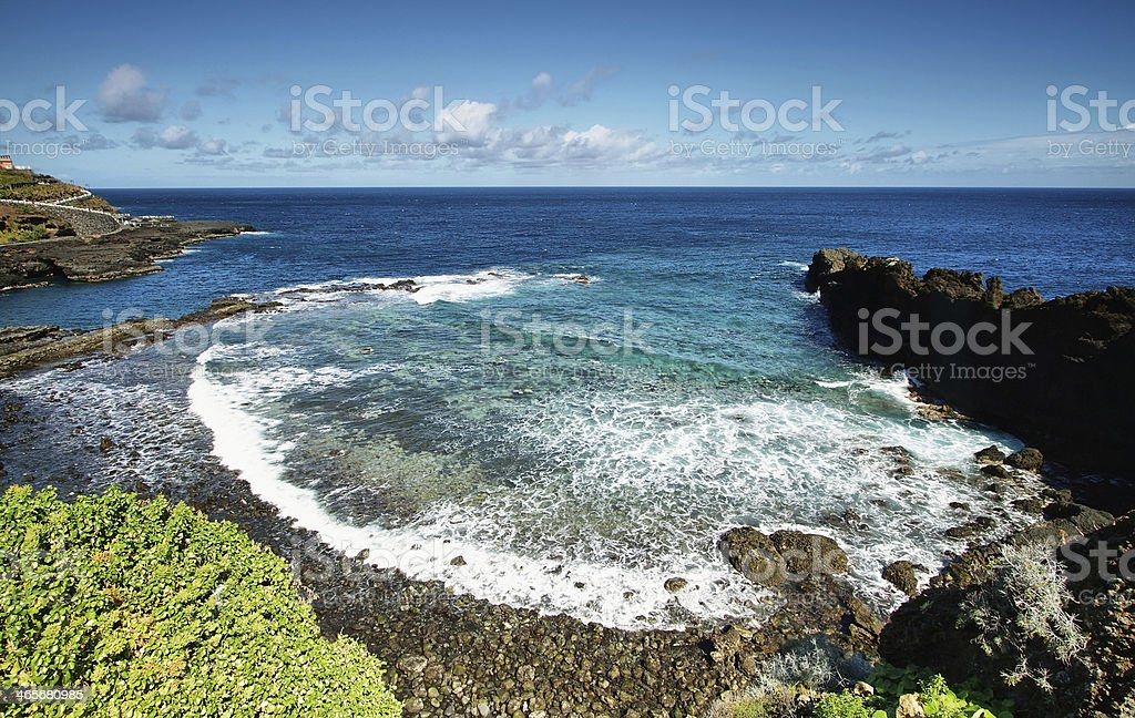 Recreational area known as Charco azul stock photo