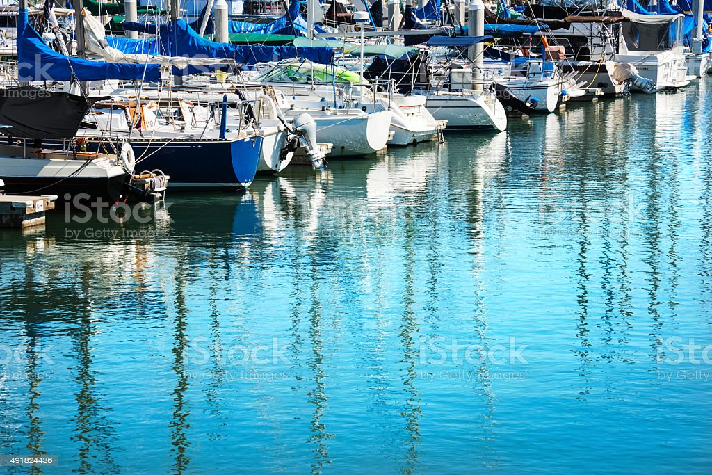 Recreational Boat Marina stock photo