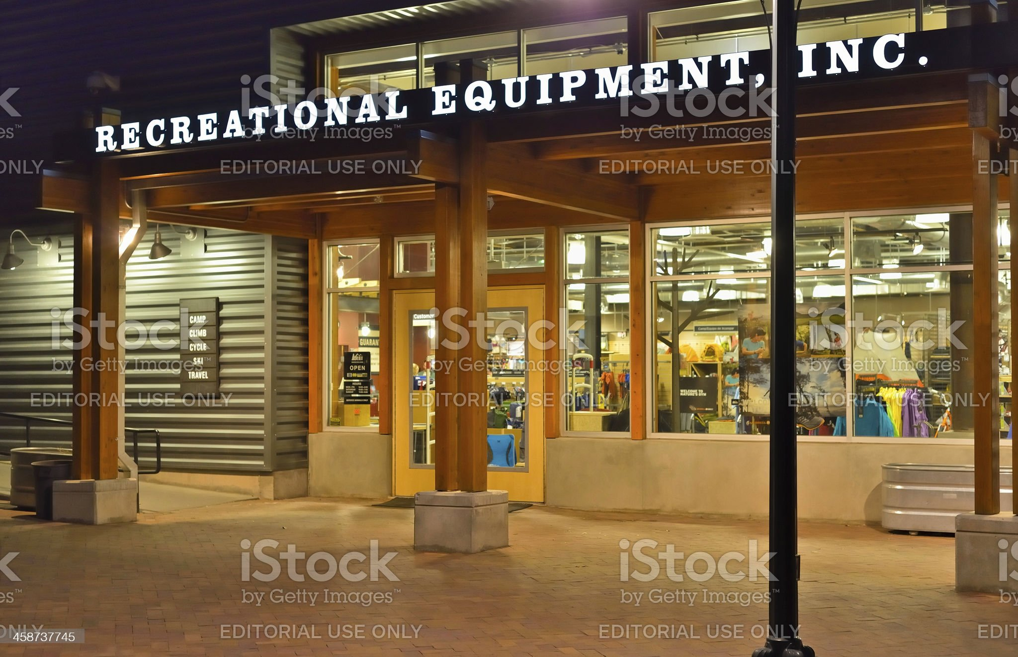 Recreational Equipment, INC, REI royalty-free stock photo