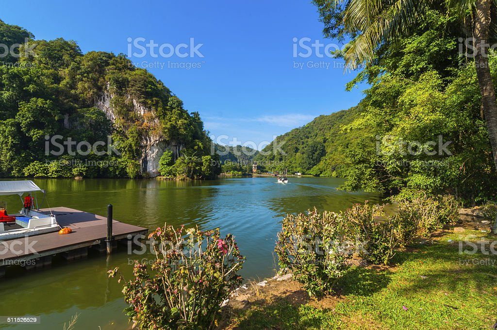 Recreational park with jetty stock photo