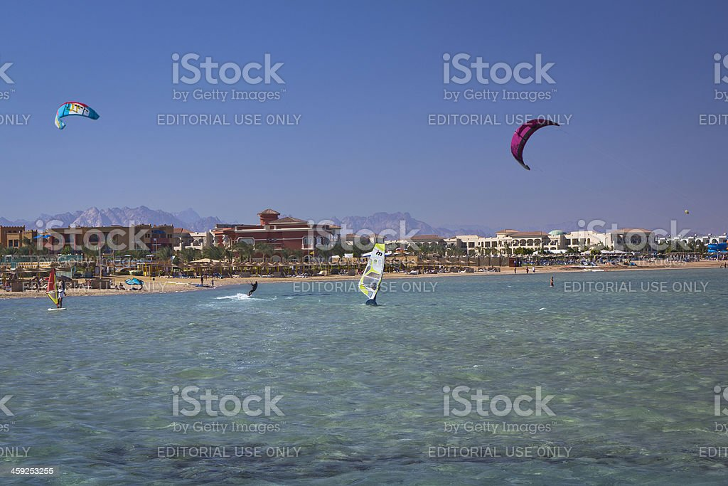 Recreational pursuit on the beach royalty-free stock photo