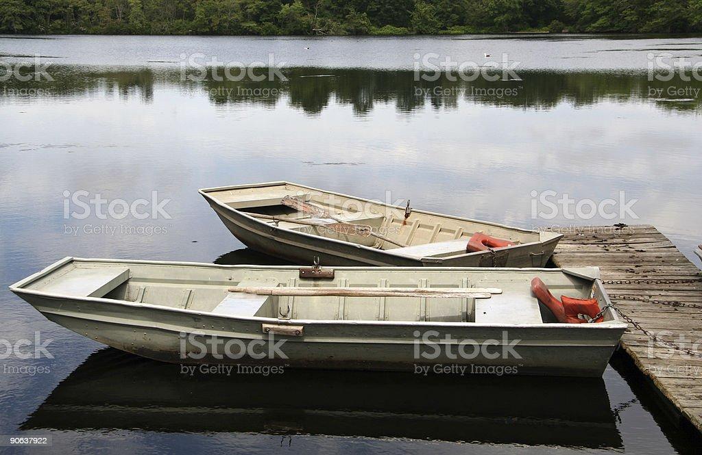 Recreational Row Boats royalty-free stock photo