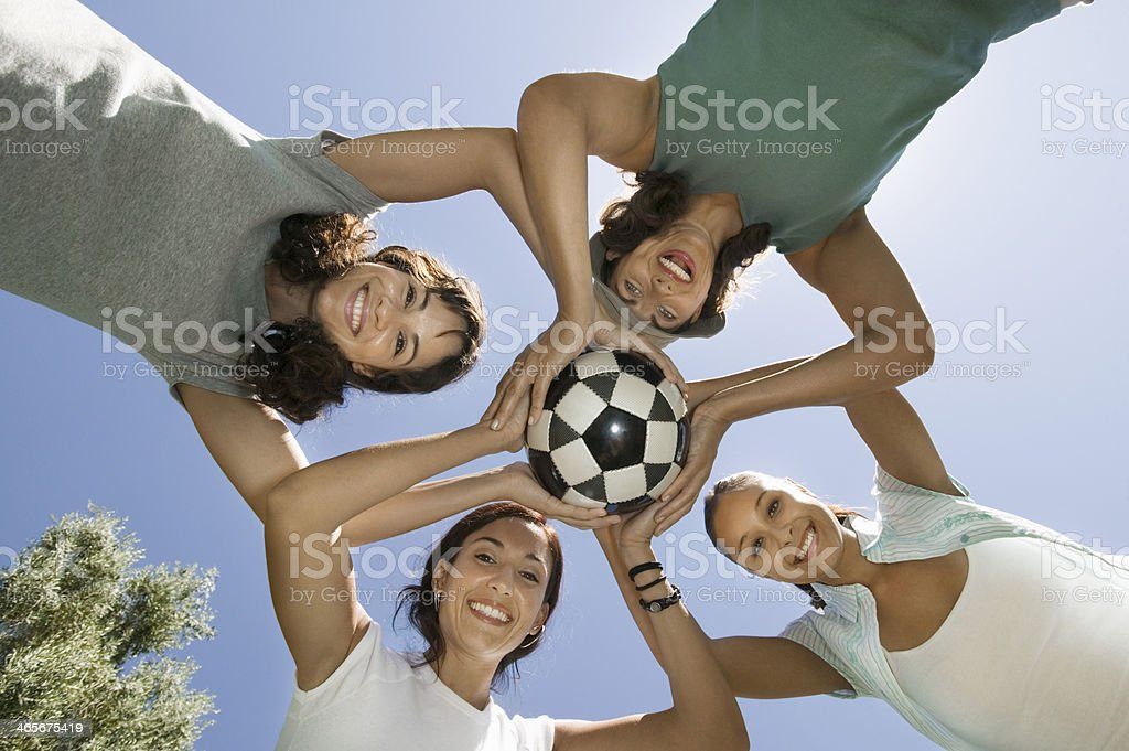 Recreational Soccer Team royalty-free stock photo