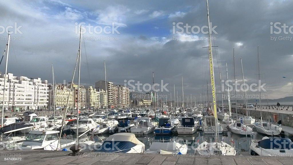 Recreative port stock photo