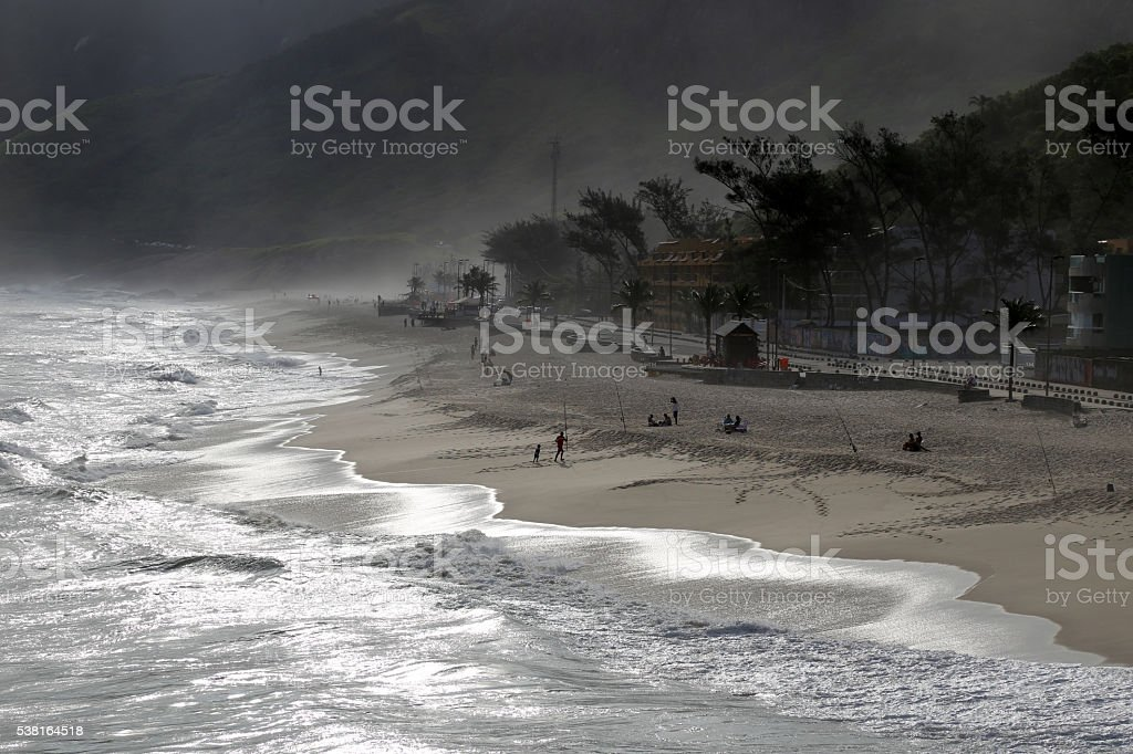 Recreio dos Bandeirantes beach in silver light II stock photo