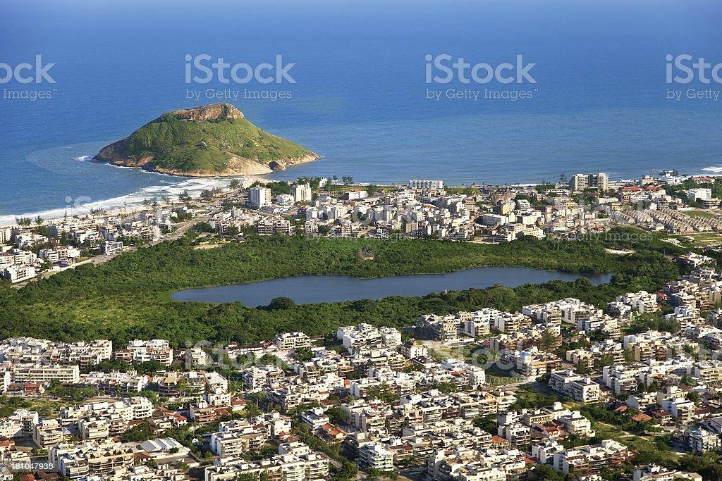 Recreio dos Bandeirantes district in Rio royalty-free stock photo