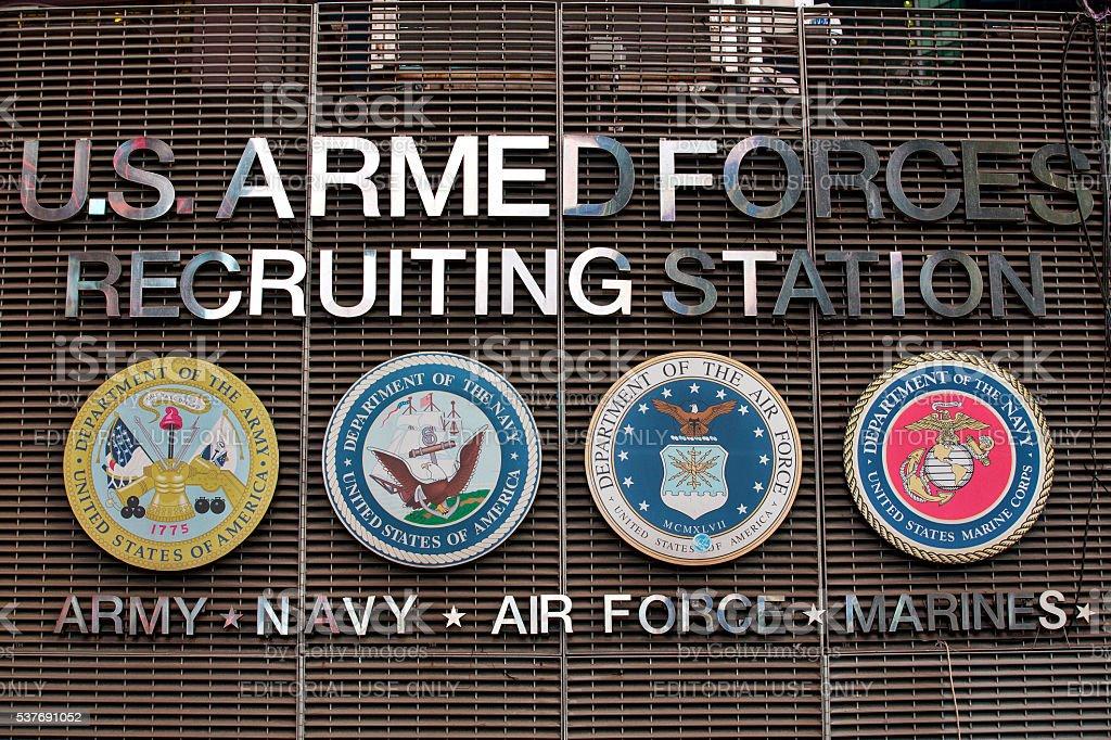 Recruiting Station stock photo