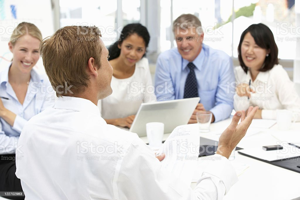 Recruitment office meeting royalty-free stock photo