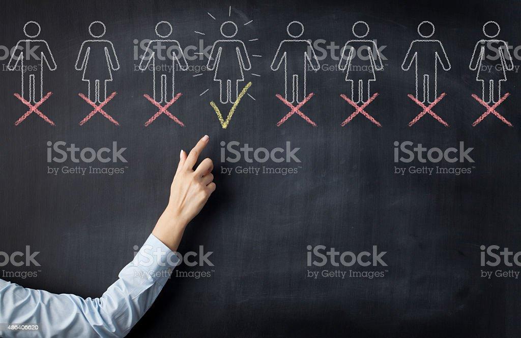 Recruitment process stock photo