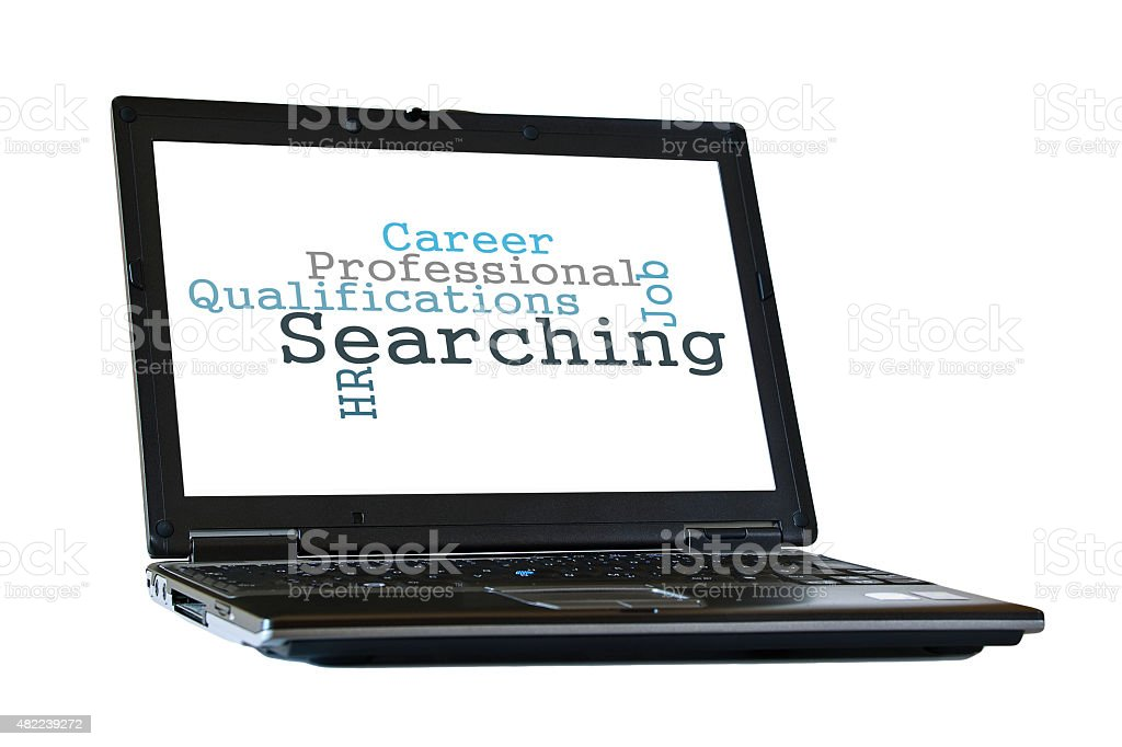 Recruitment word cloud stock photo