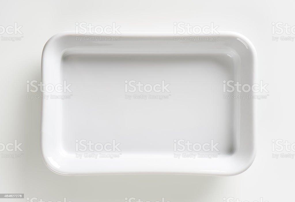 Rectangle ceramic baking dish stock photo