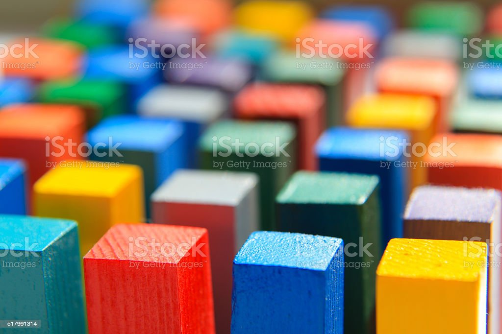 Rectangle of different colors stock photo
