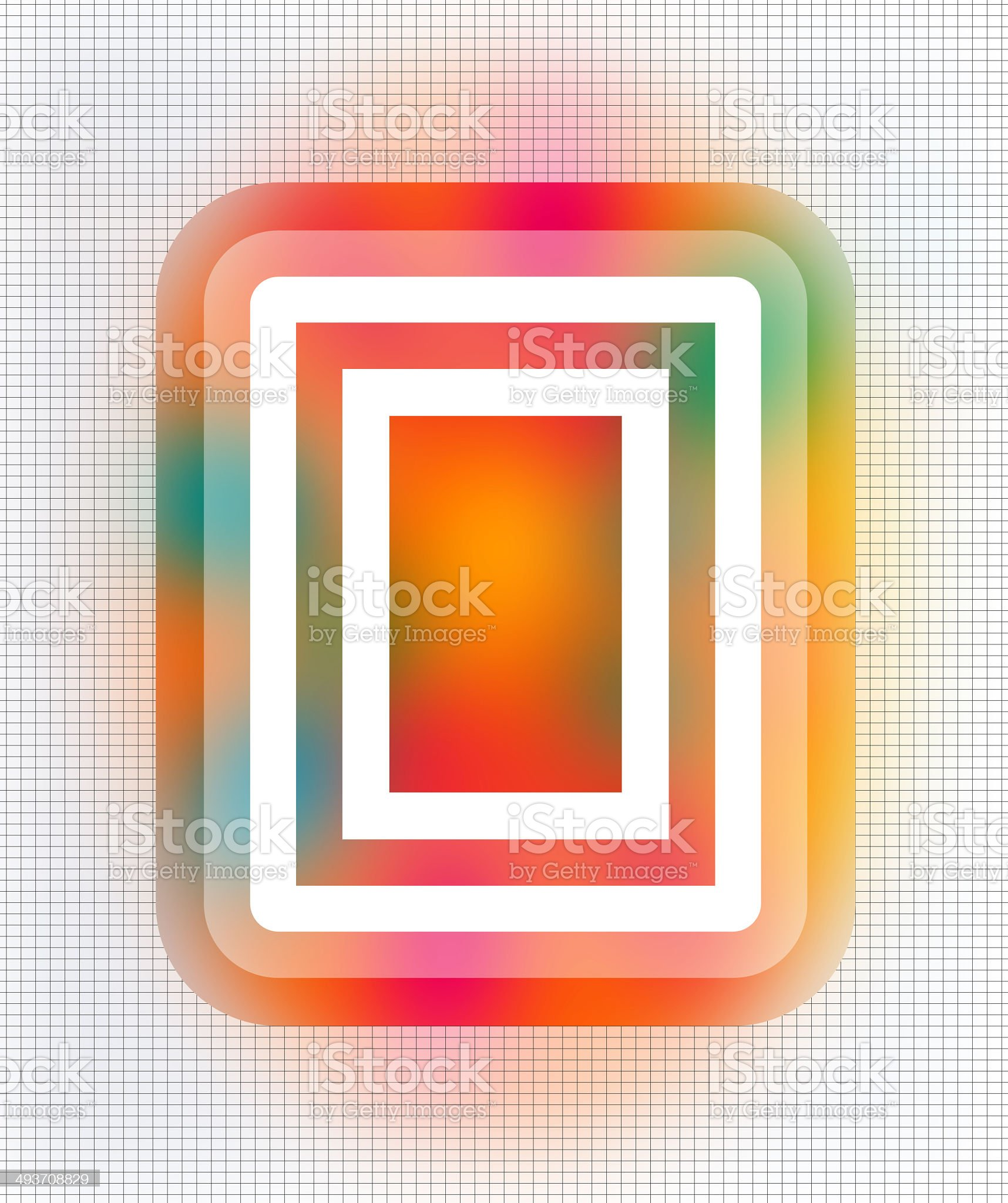 Rectangle shapes surrounded by colorful patches royalty-free stock photo
