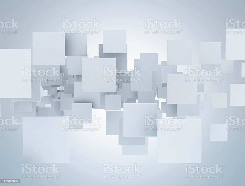 3D rectangles royalty-free stock photo