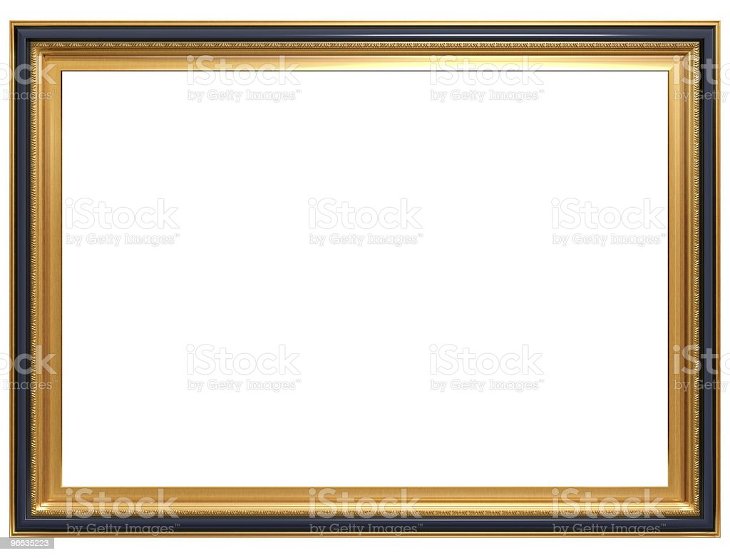 Rectangular antique picture frame stock photo