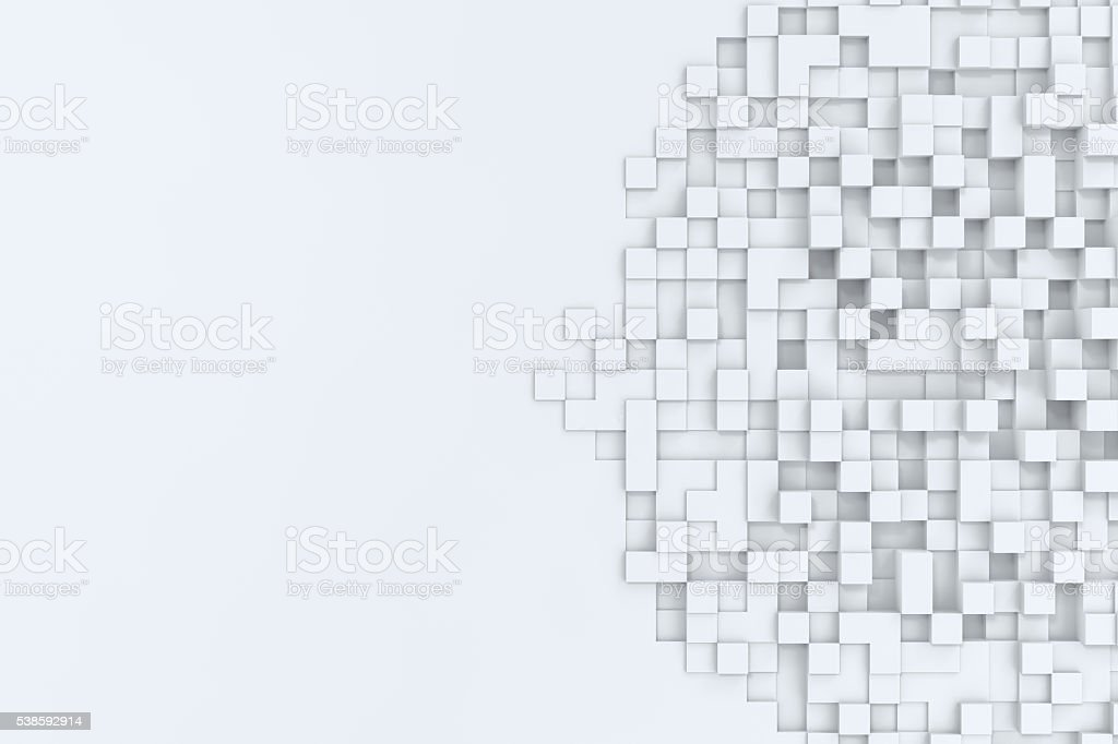 Rectangular cubes abstract bacgkround. 3d illustration stock photo