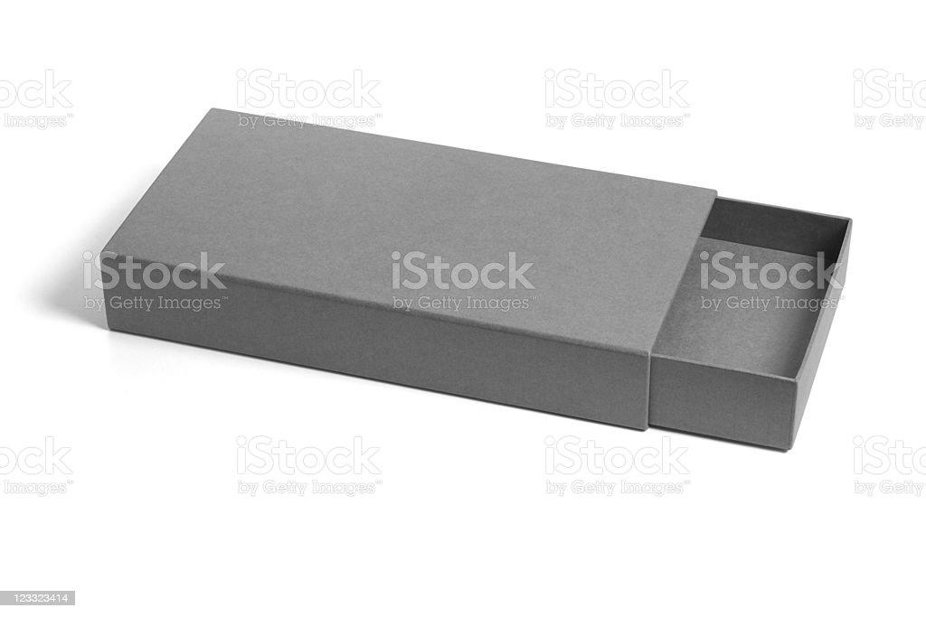 Rectangular flat gift box royalty-free stock photo
