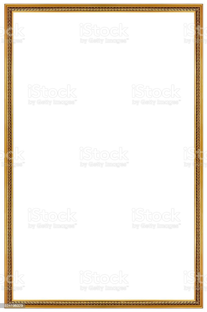 Rectangular Gilded Frame stock photo