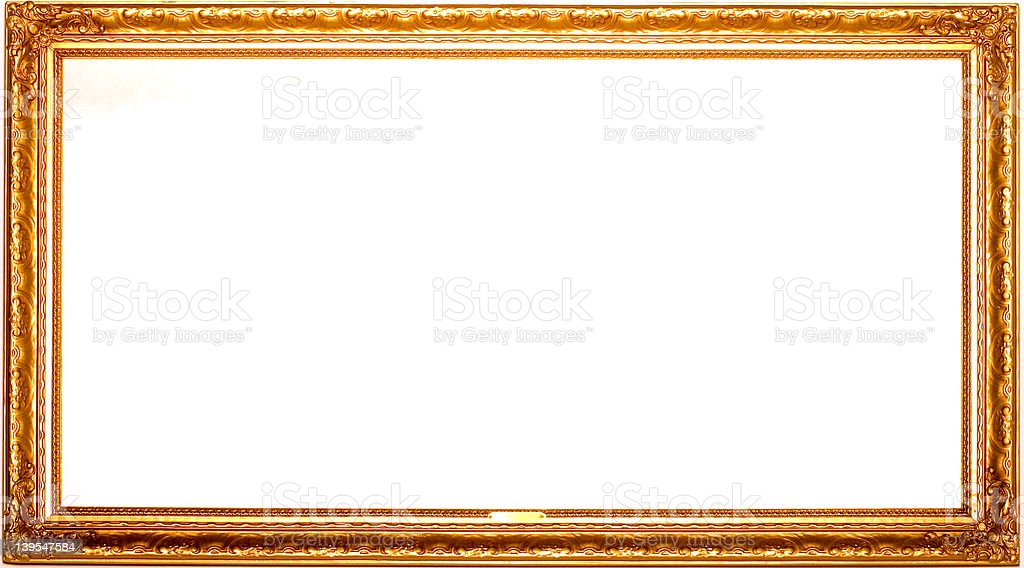 rectangular gold frame royalty-free stock photo
