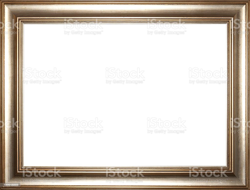Rectangular Golden Picture Frame stock photo